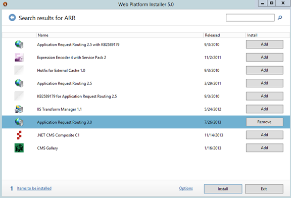 Web Farm Framework Server 2012 R2