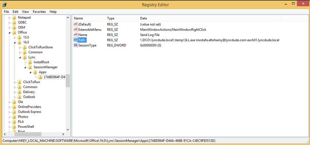One Click send Skype for Business / Lync 2013 SIP-Stack log to