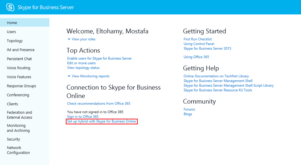 Configuring Skype For Business Hybrid- step by step guide